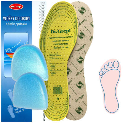 Picture of Insoles SANITIZED CUT-OFF with a heel edge